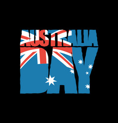 australia day patriotic holiday australian flag vector image