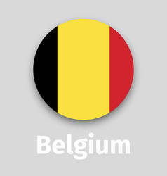 belgium flag round icon vector image vector image