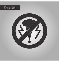 Black and white style icon disaster tornado vector