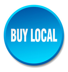 Buy local blue round flat isolated push button vector