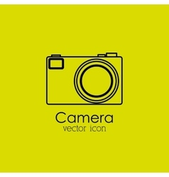 camera isolated icon design vector image