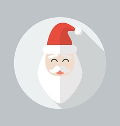 Christmas flat icon santa claus vector