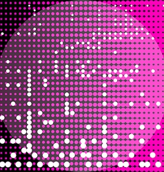 Circles black and purple background vector