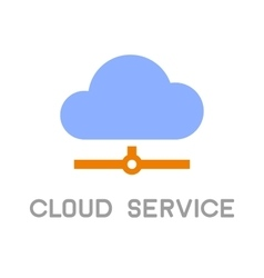 Cloud service computing icon logo flat design vector