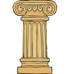column pedestal vector image vector image