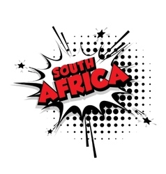 Comic text south africa sound effects pop art vector