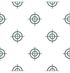 Crosshair pattern flat vector
