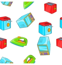 Devices for home pattern cartoon style vector