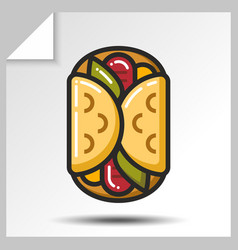 Fast food icons 10 vector