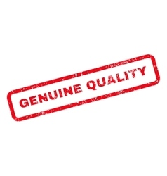 Genuine quality text rubber stamp vector