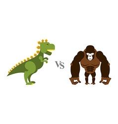 Godzilla vs king kong battle monsters big wild vector
