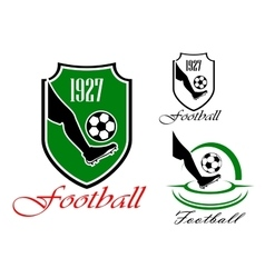Green and black soccer or football symbol vector image vector image