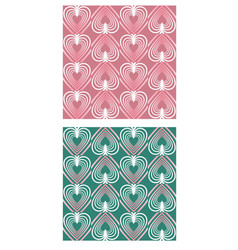 heart shape patterns in mute nostalgic colors vector image
