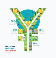 Infographic business money yen shape template vector
