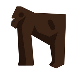 Isolated abstract gorilla vector