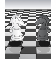 knights on a chess board vector image vector image