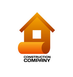 logo template for architecture vector image