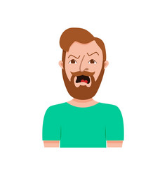male hipster cartoon character vector image vector image