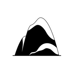 mountain silhouette icon in flat style vector image