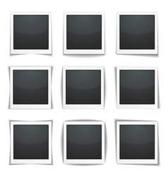 Photo Frames with Shadows vector image vector image
