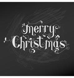 Retro Christmas Card - Christmas Lettering vector image