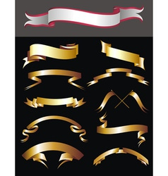 set of curled ribbons vector image