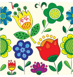 simple floral print vector image vector image