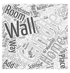 Wall mounted candle holders word cloud concept vector