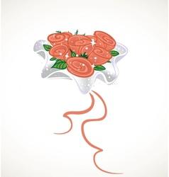 Wedding bouquet for bride vector