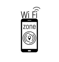wi-fi zone icon vector image
