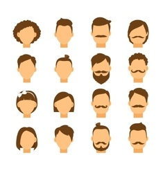 Women hairstyle and men hair style hipster vector image vector image