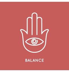 Yoga logo template vector image