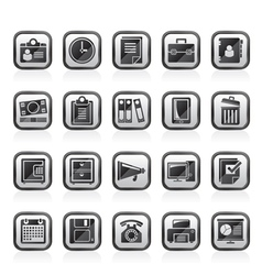 Business and office supplies icons vector image