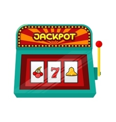Slot machine web banner isolated on green vector