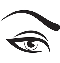 woman eye and brow vector image