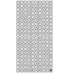 black 200 universal icons set vector image