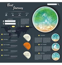 Travel web design template vector image