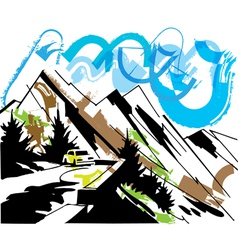 Mountain travel vector