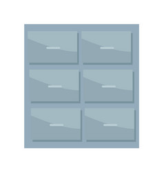 Metal cabinet handle archive furniture office vector