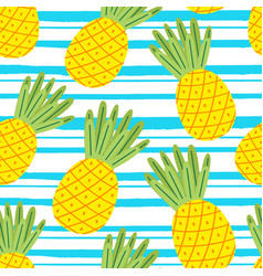 Seamless pattern with pineapple vector