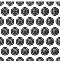Seamless pattern from bitcoin coin vector