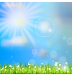 Spring or summer abstract nature eps 10 vector