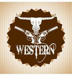 western banner design vector image