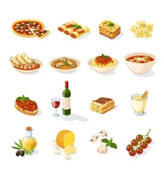 Italian Food Set vector image