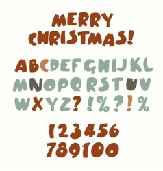 Retro color font vector