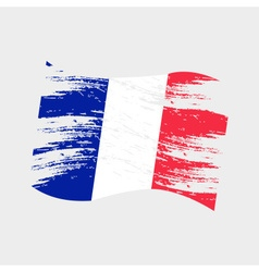 Color france national flag grunge style eps10 vector