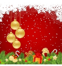 Template for christmas vector