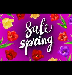 Big spring sale spring beautiful modern vector