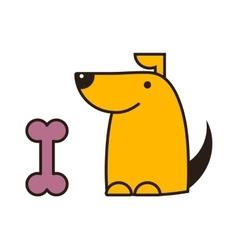 Dog and bone vector