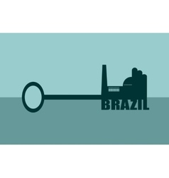 Concept of a key brazil vector